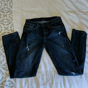 Joe's Jeans Distressed Straight Leg Jeans EUC